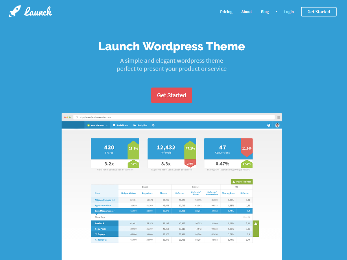 Launch Download Free Wordpress Theme 5