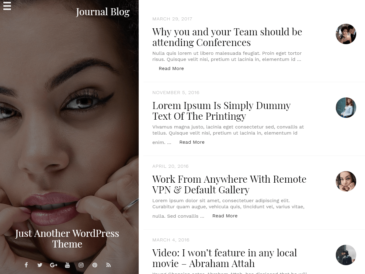 Journal Blog Download Free Wordpress Theme 3