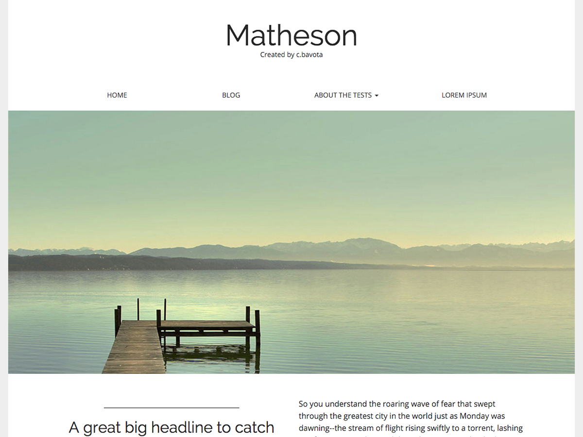 Matheson Download Free WordPress Theme