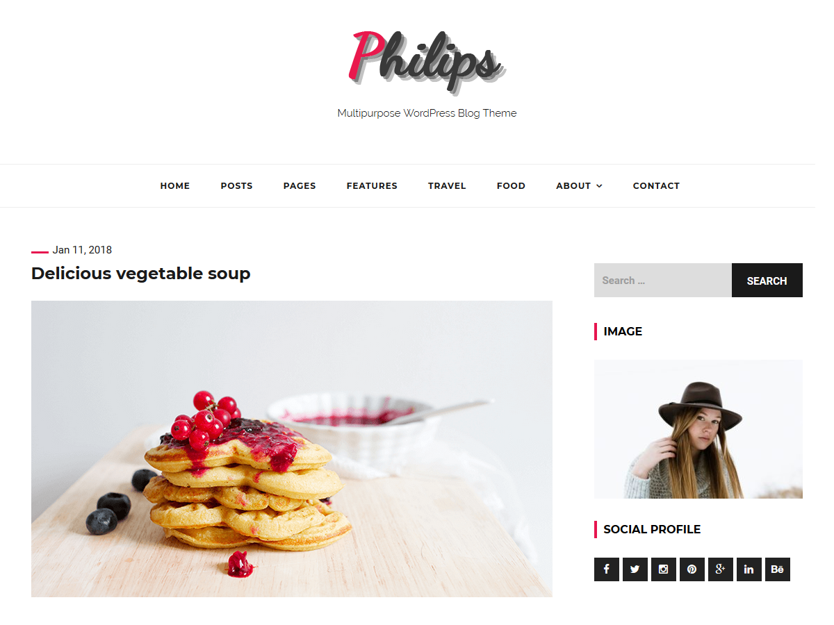 philips Download Free Wordpress Theme 4