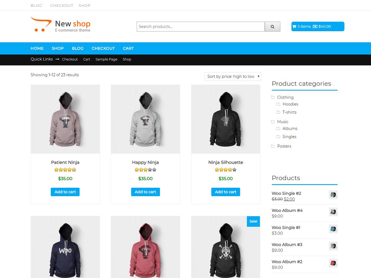 New Shop Download Free Wordpress Theme 5