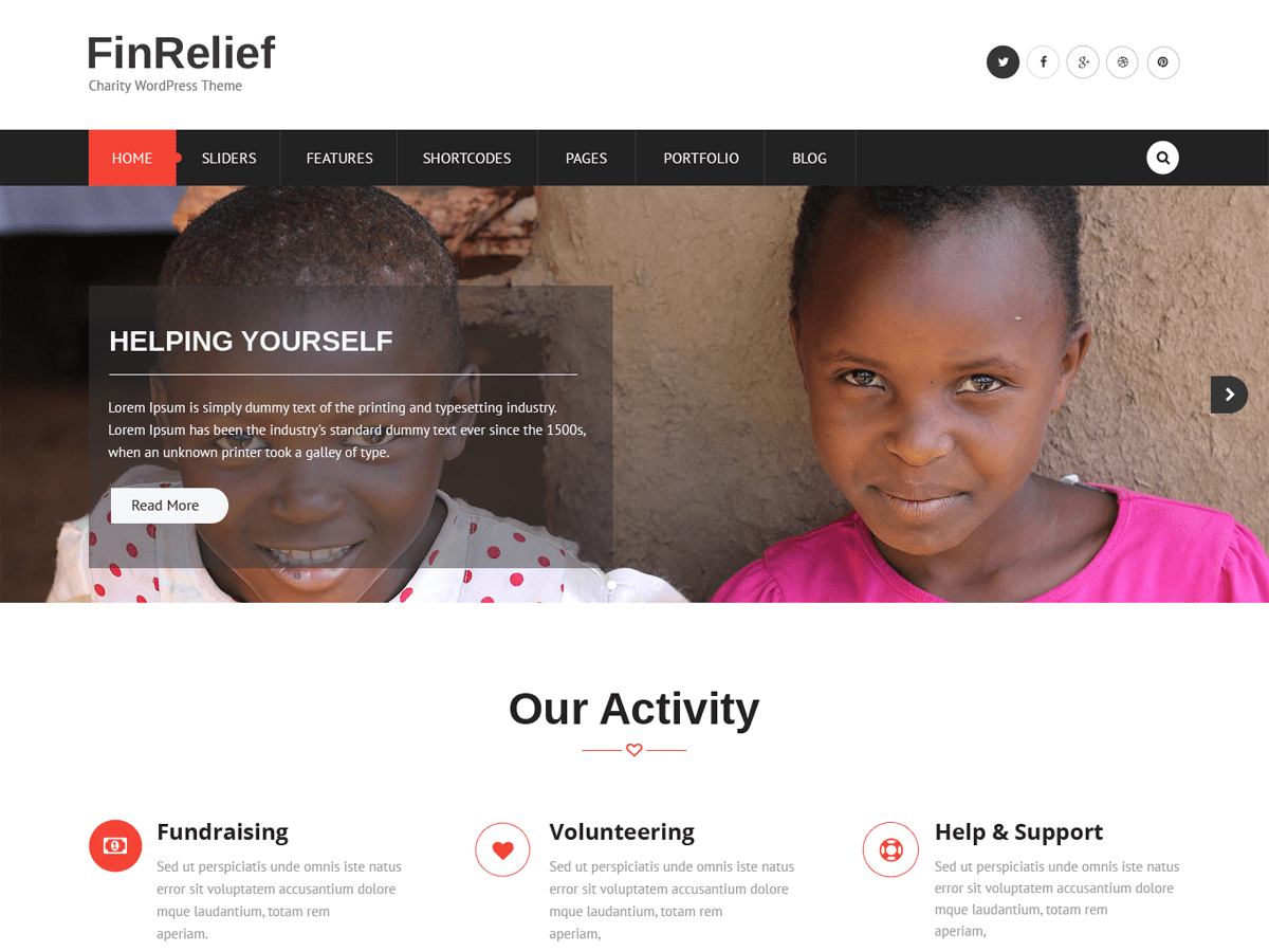 FinRelief Download Free Wordpress Theme 2