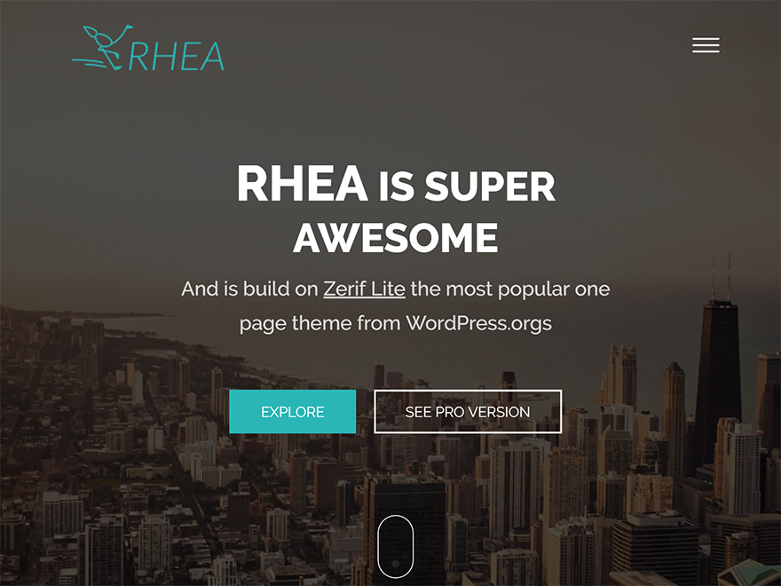 Rhea Download Free Wordpress Theme 3