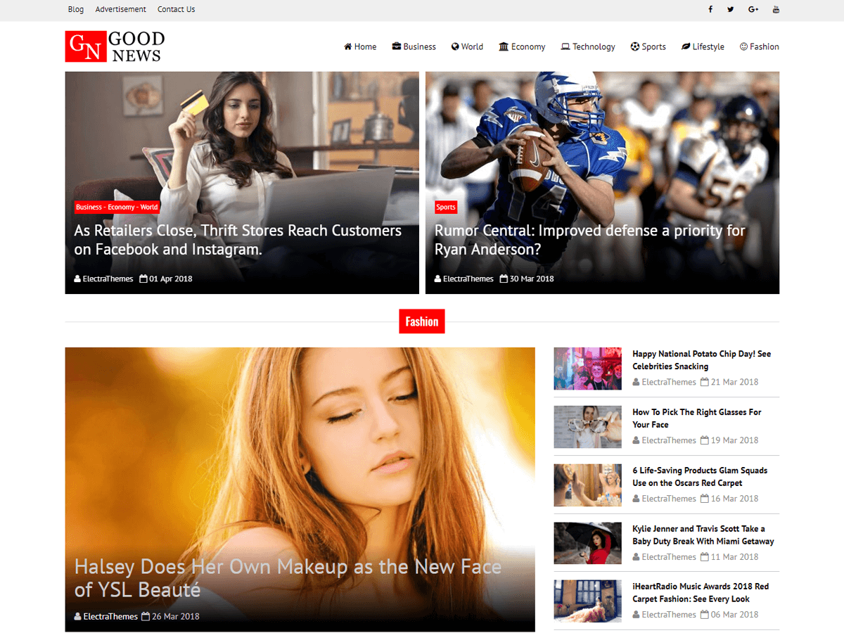 Good News Lite Download Free Wordpress Theme 4