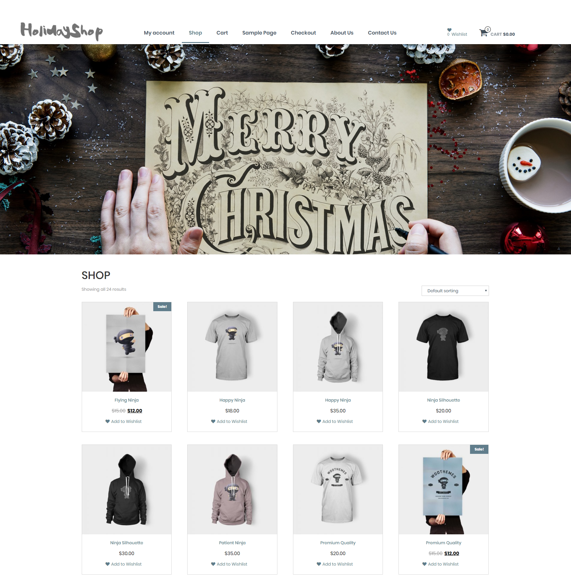 Holidayshop Download Free Wordpress Theme 2
