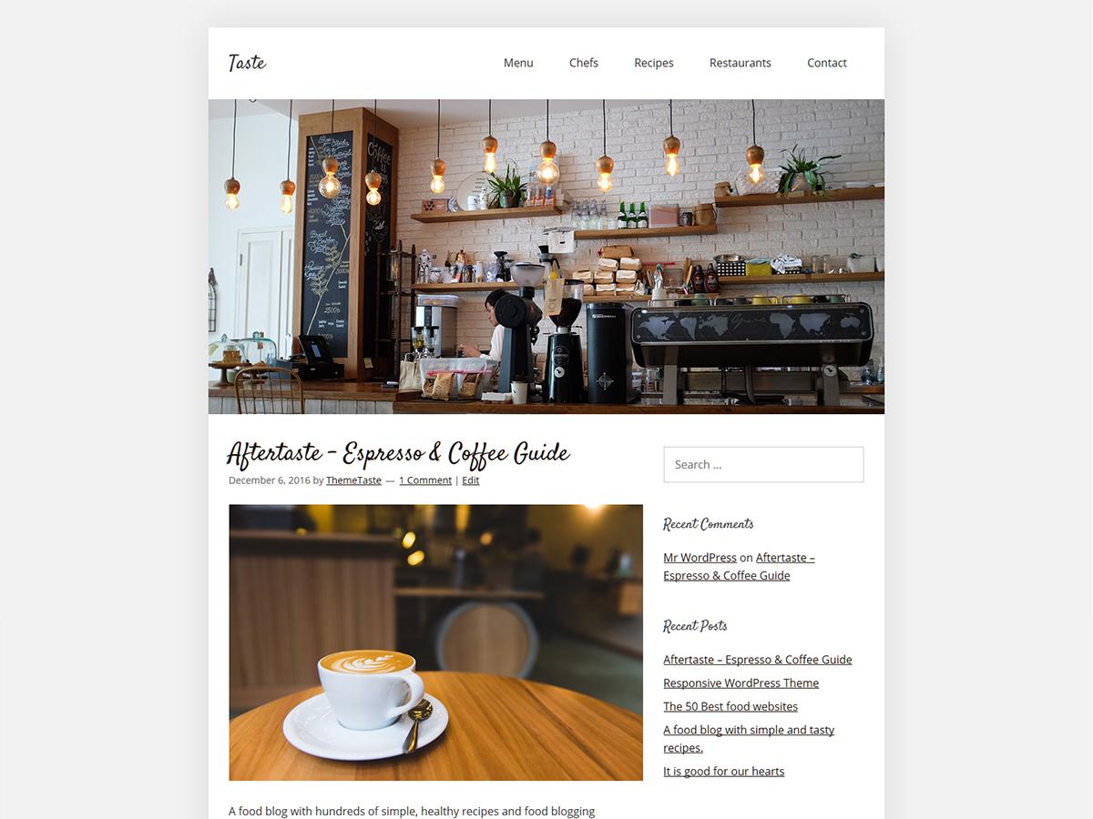 Taste Download Free Wordpress Theme 2