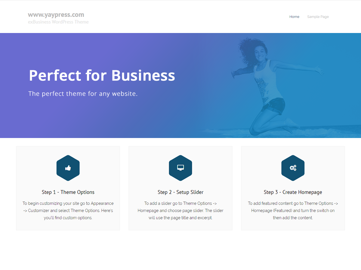 exBusiness Download Free Wordpress Theme 2