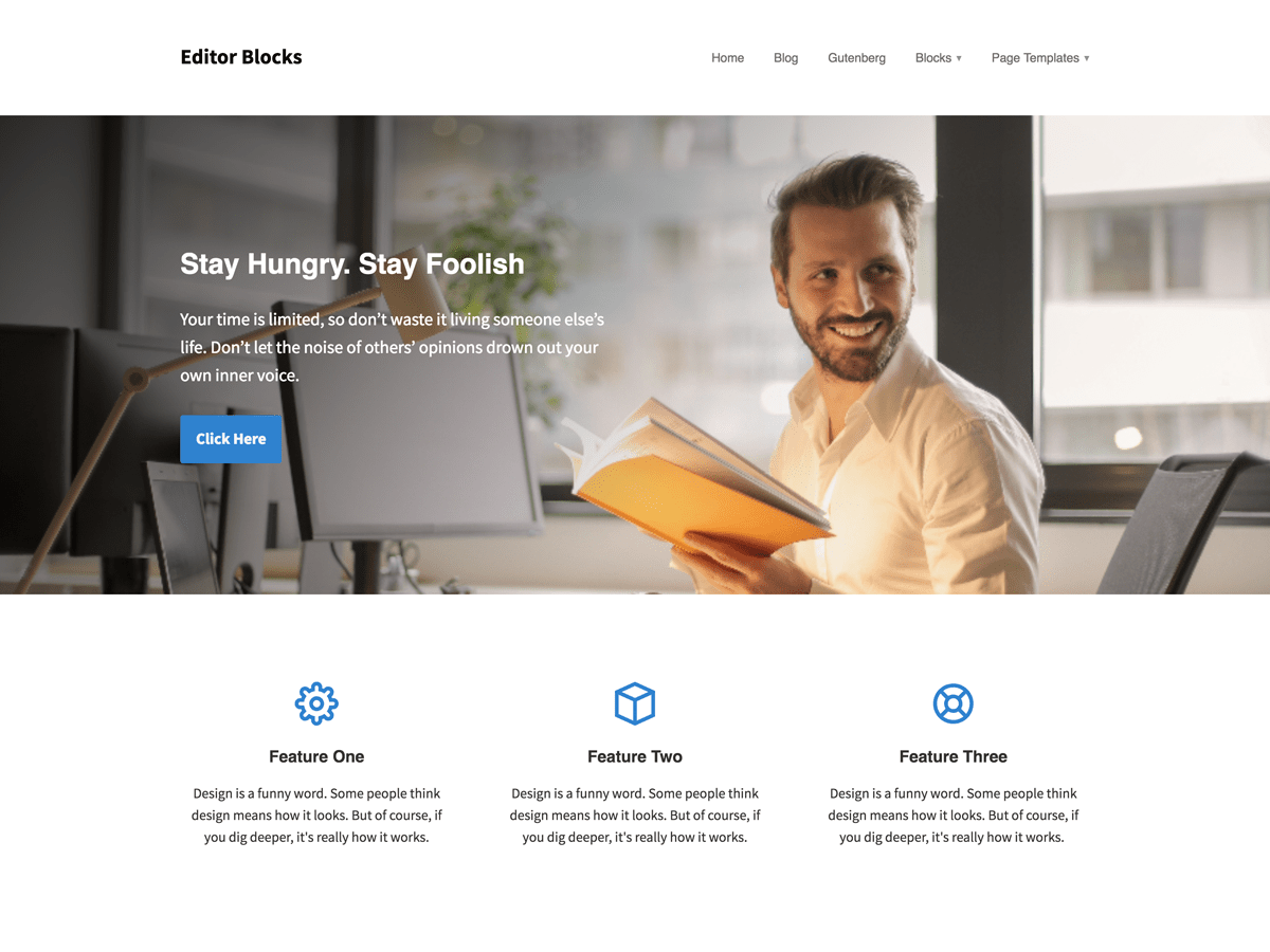 Editor Blocks Download Free Wordpress Theme 3