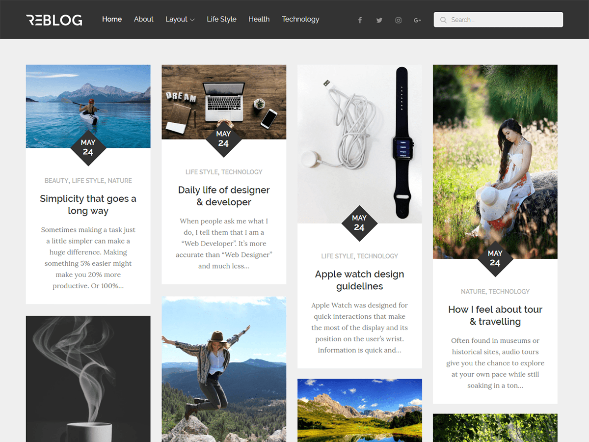 Reblog Download Free Wordpress Theme 3