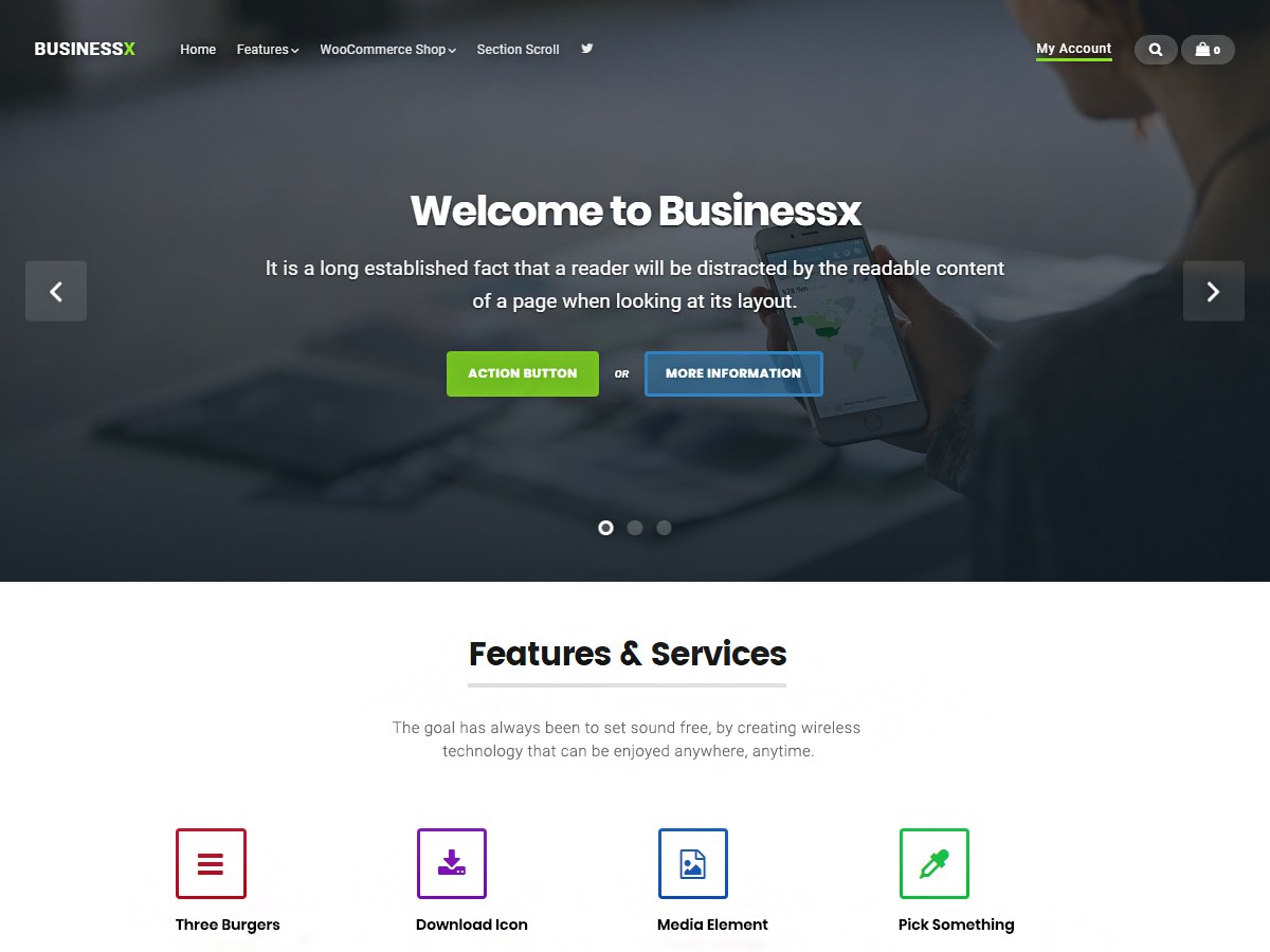 Businessx Download Free Wordpress Theme 2