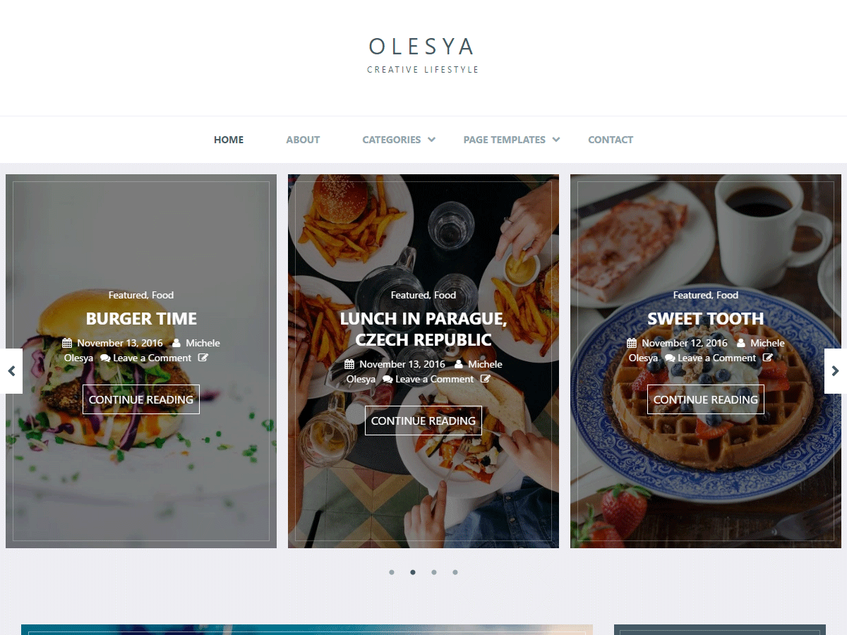 Olesya Lite Download Free Wordpress Theme 2