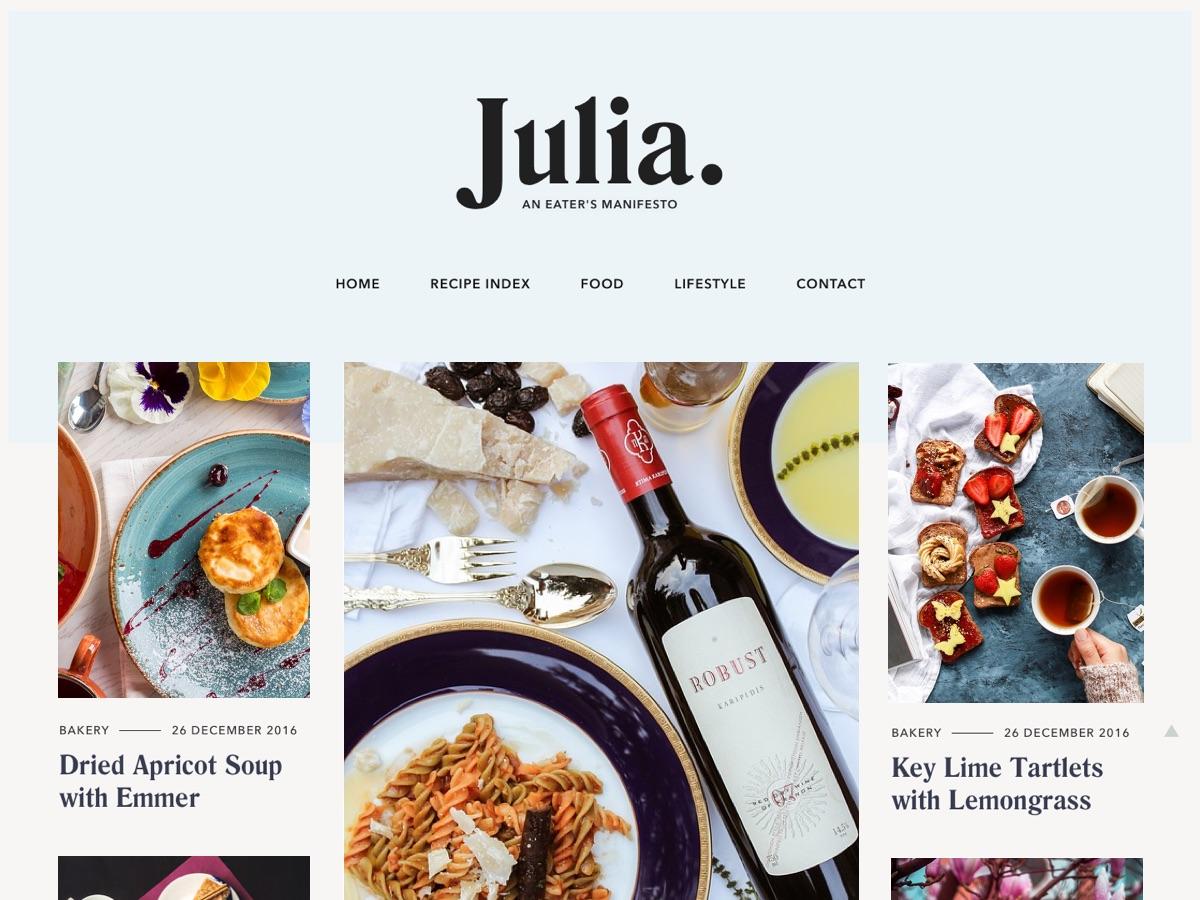 Julia Lite Download Free Wordpress Theme 4