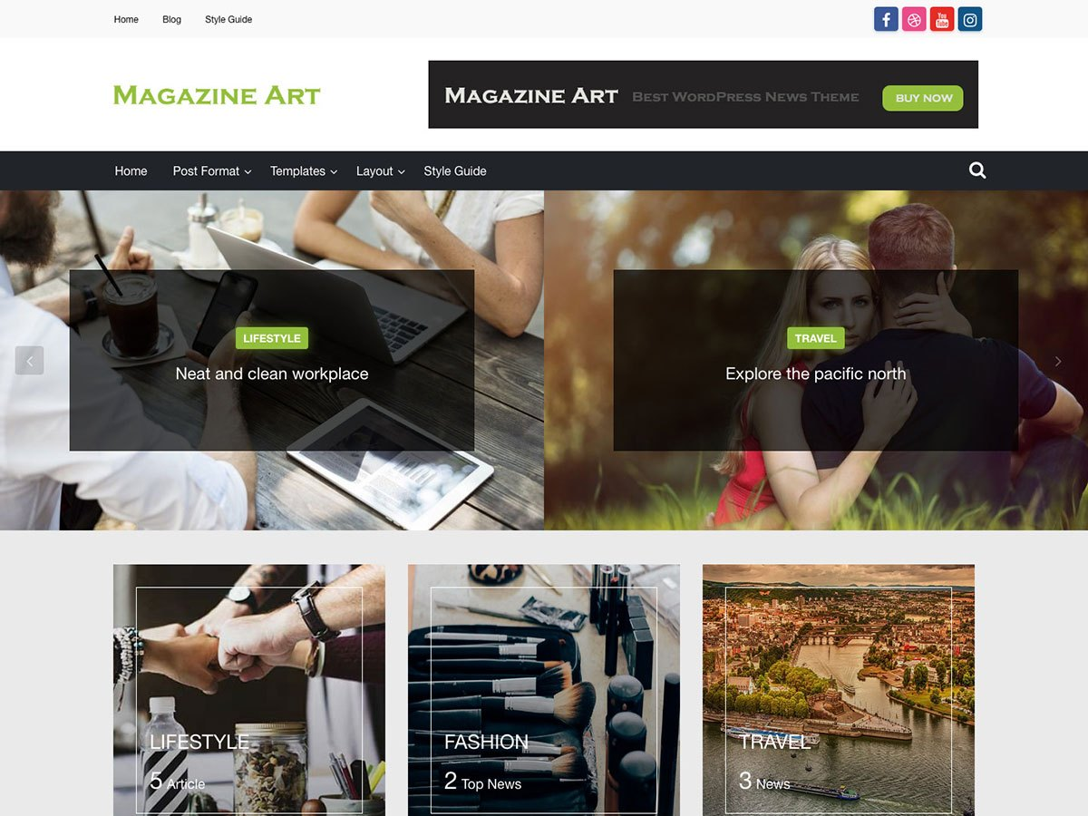 Magazine Art Download Free Wordpress Theme 1