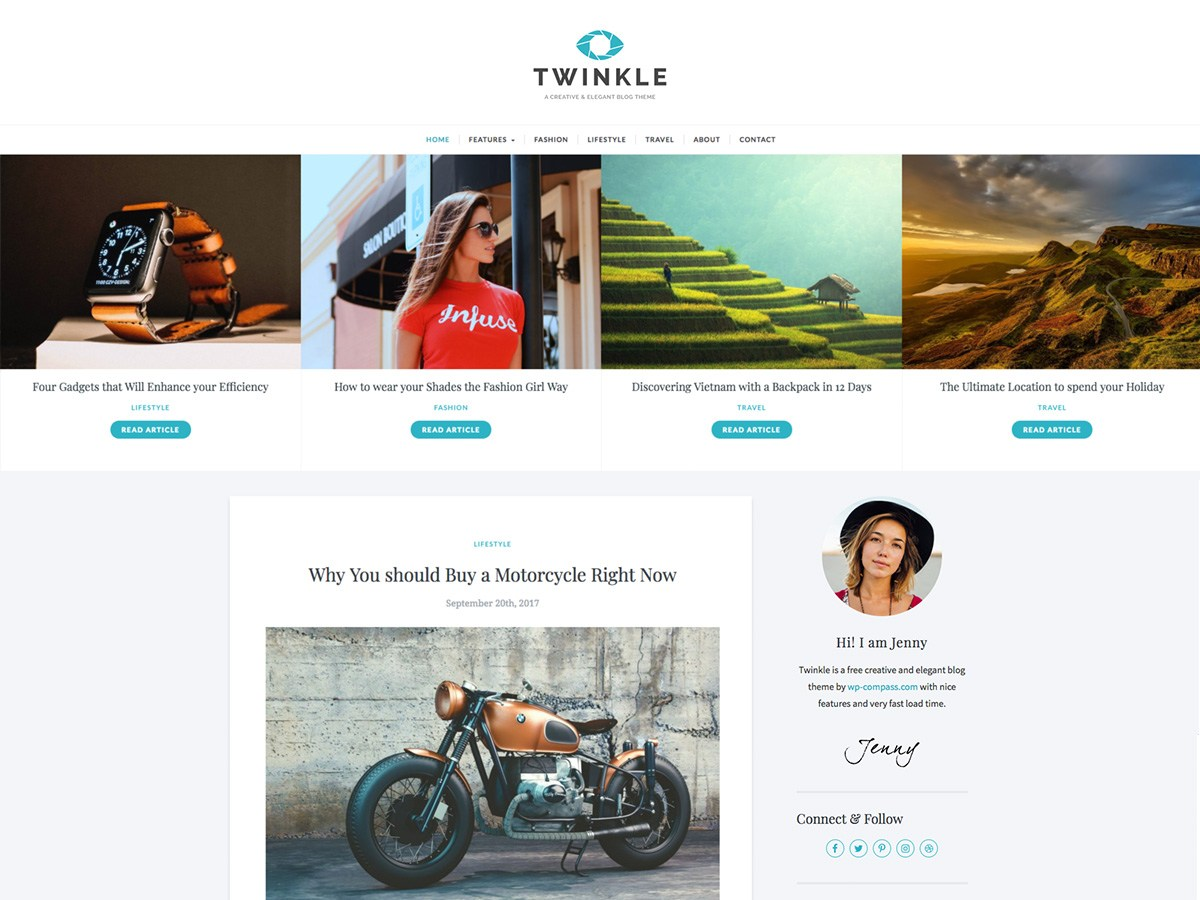 twinkle Download Free Wordpress Theme 5