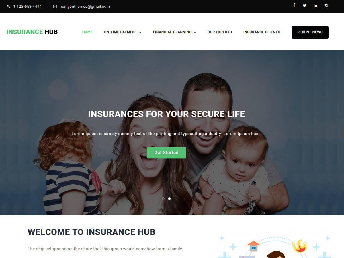 Insurance Hub Download Free Wordpress Theme 4