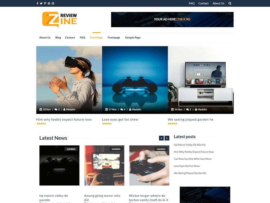 ReviewZine Download Free Wordpress Theme 2