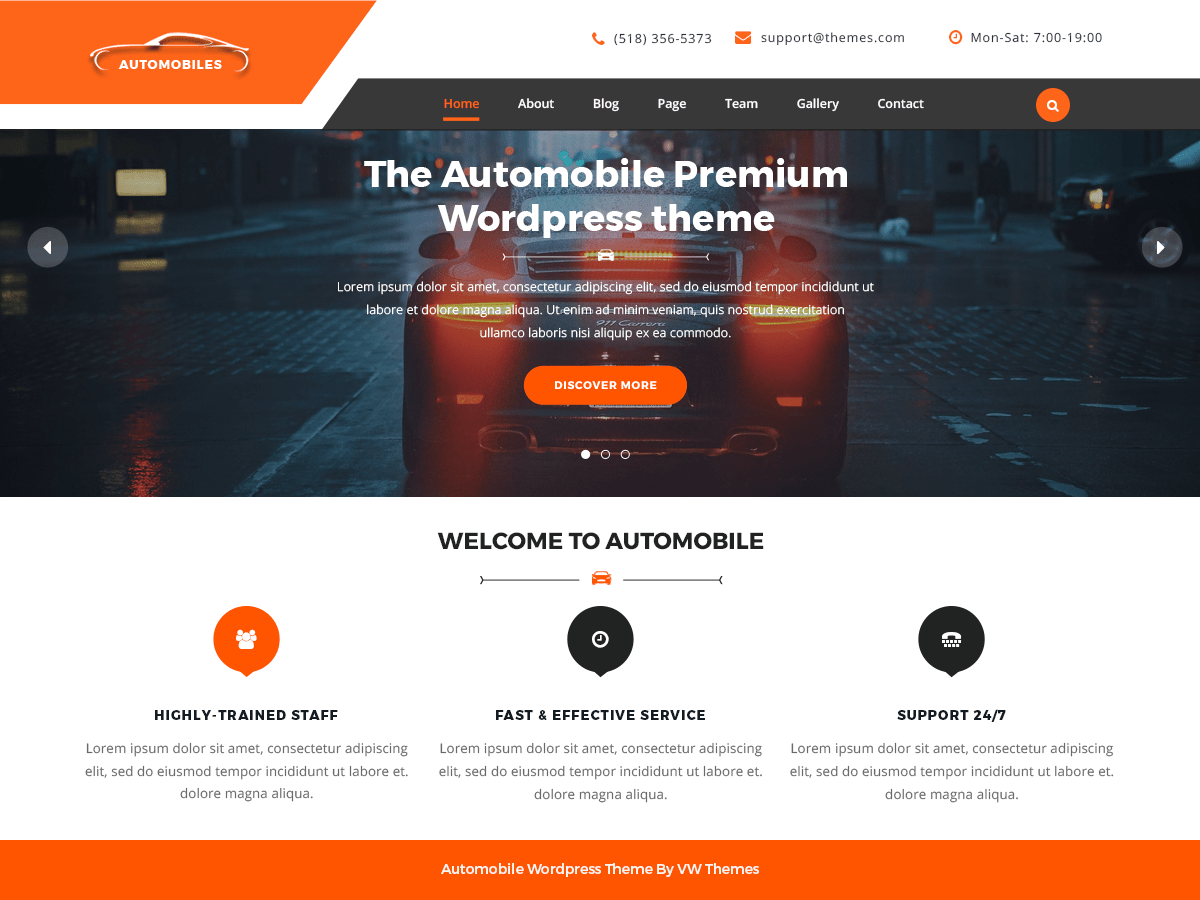 VW automobile Lite Download Free Wordpress Theme 3