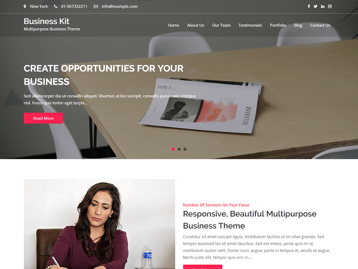 Business Kit Download Free Wordpress Theme 3