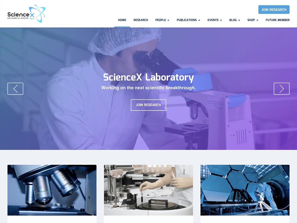 Sciencex Lite Download Free Wordpress Theme 5