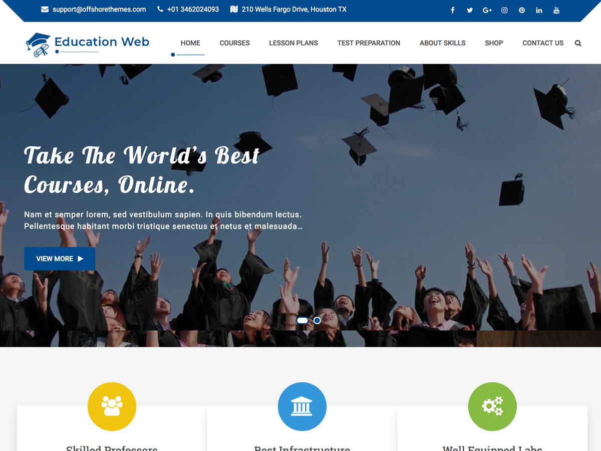 Education Web Download Free Wordpress Theme 5