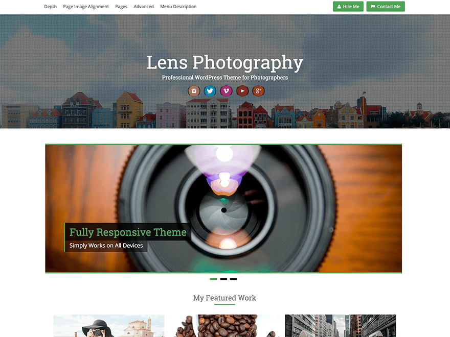 Lens Download Free Wordpress Theme 4