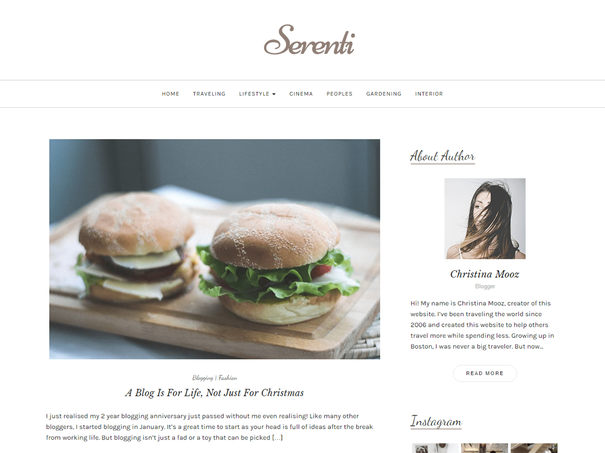 Serenti Download Free Wordpress Theme 4