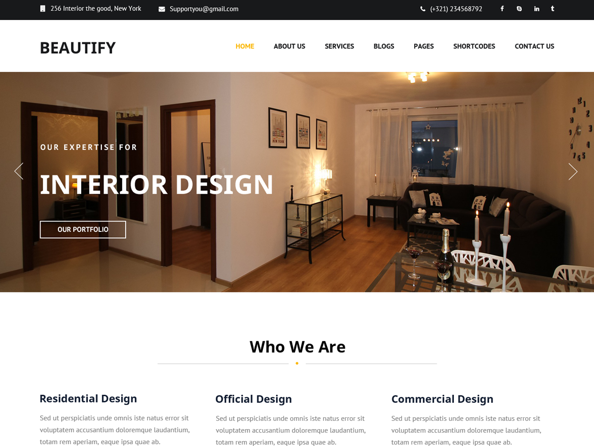 Beautify Download Free Wordpress Theme 5