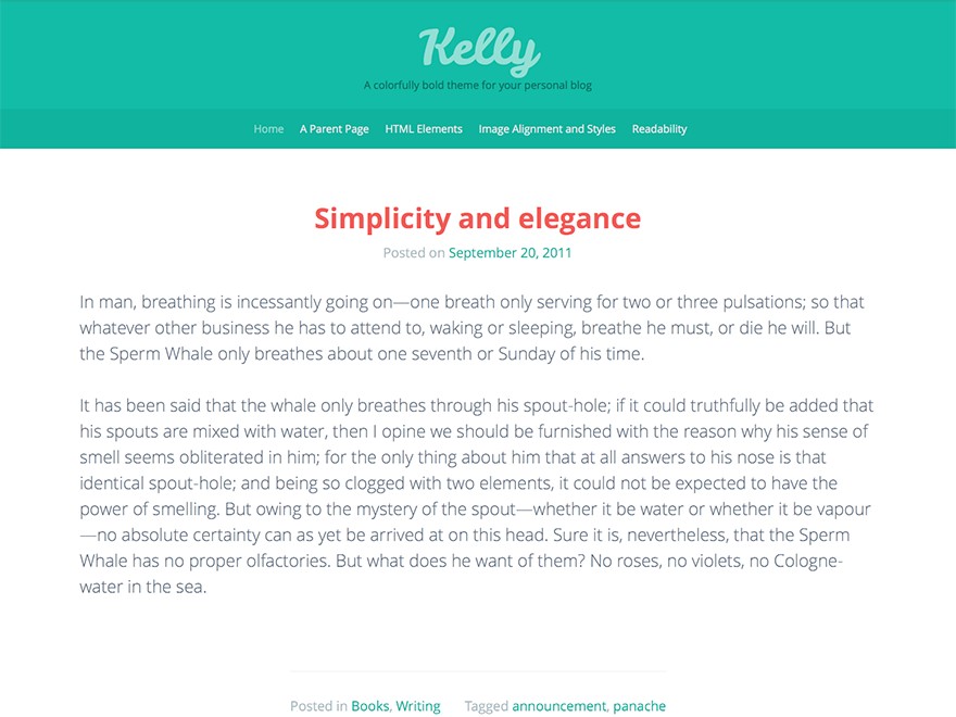 Kelly Download Free Wordpress Theme 3