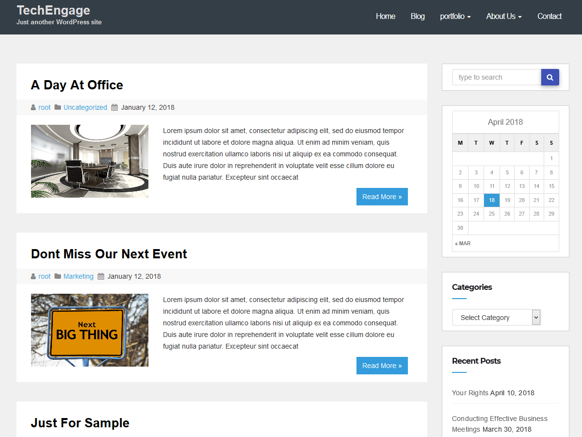 techengage Download Free Wordpress Theme 3