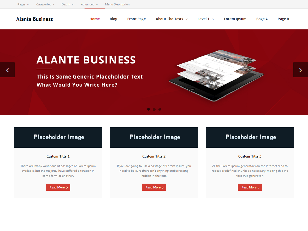 Alante Business Download Free Wordpress Theme 4