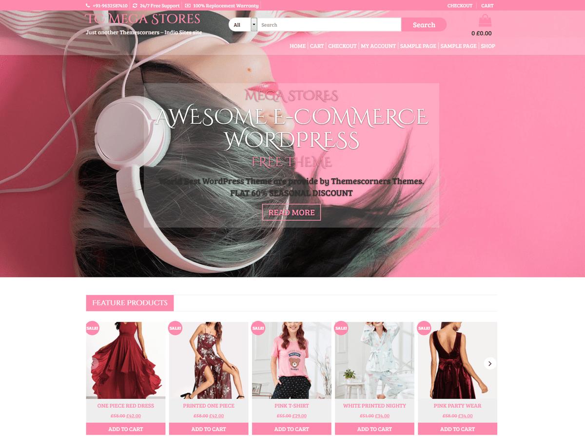 TC Mega Stores Download Free Wordpress Theme 1