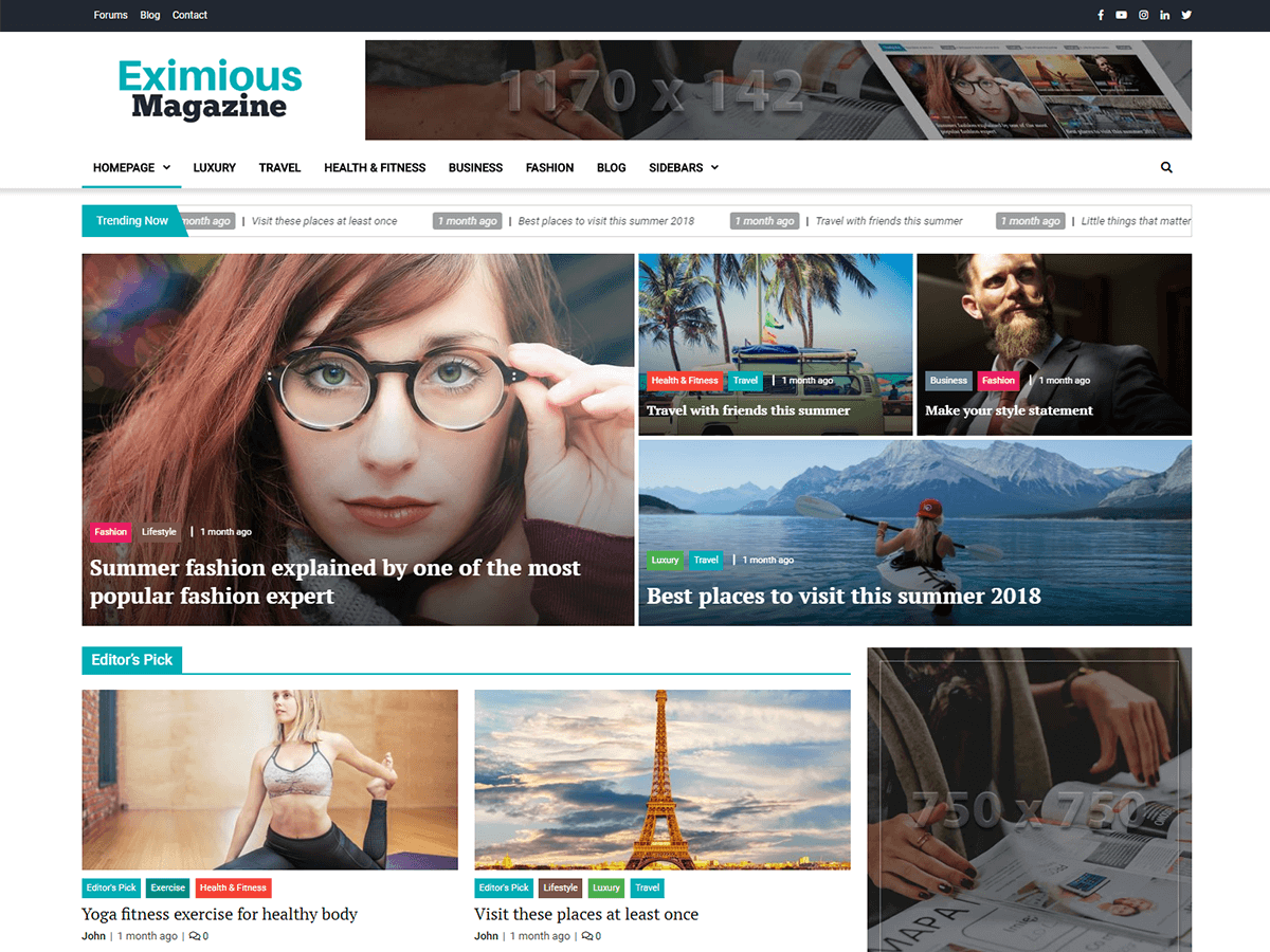 Eximious Magazine Download Free Wordpress Theme 3