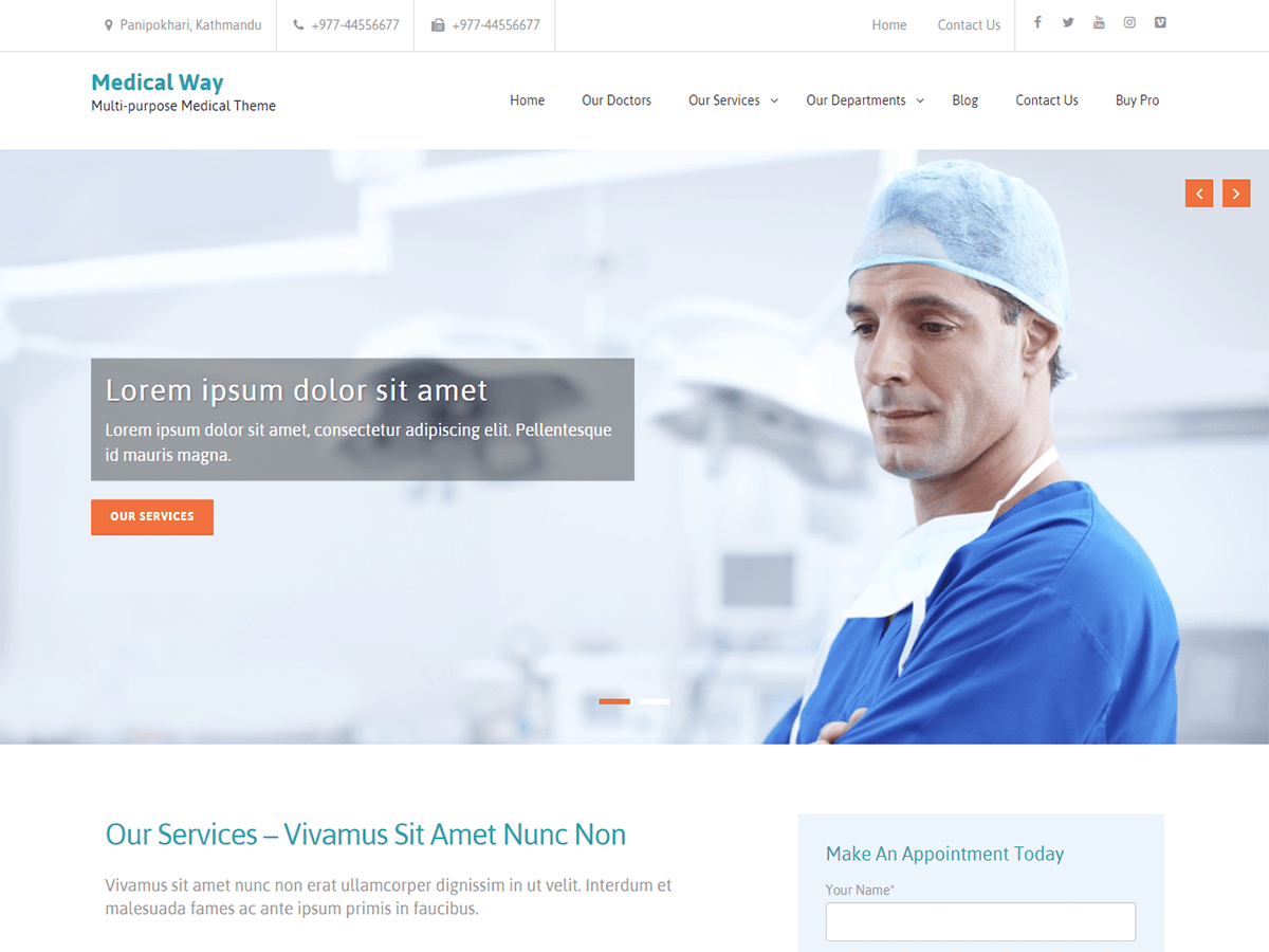 Medical Way Download Free Wordpress Theme 5