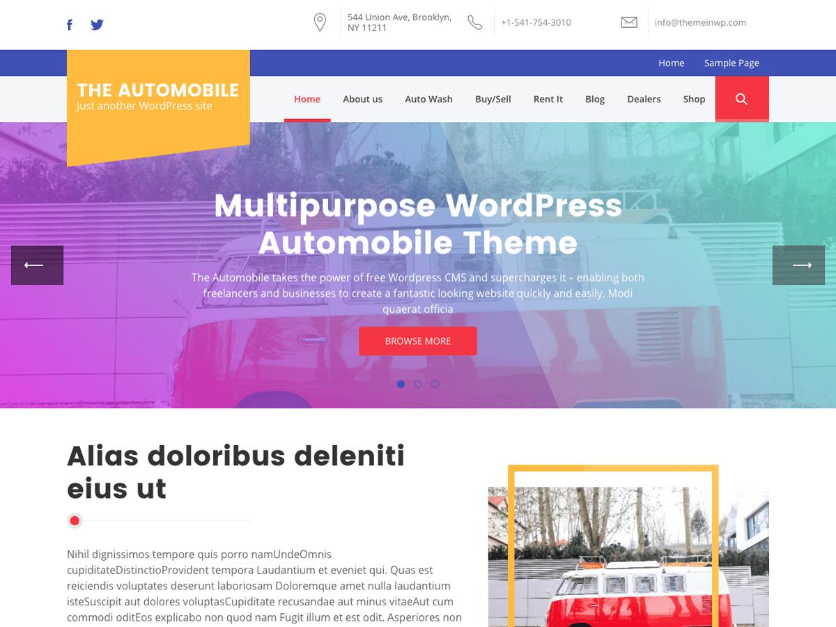 The Automobile Download Free Wordpress Theme 5