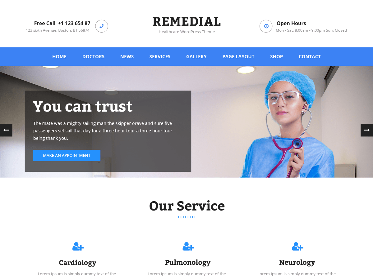 Remedial Download Free Wordpress Theme 3