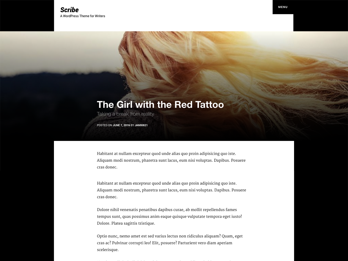 Scribe Download Free Wordpress Theme 2