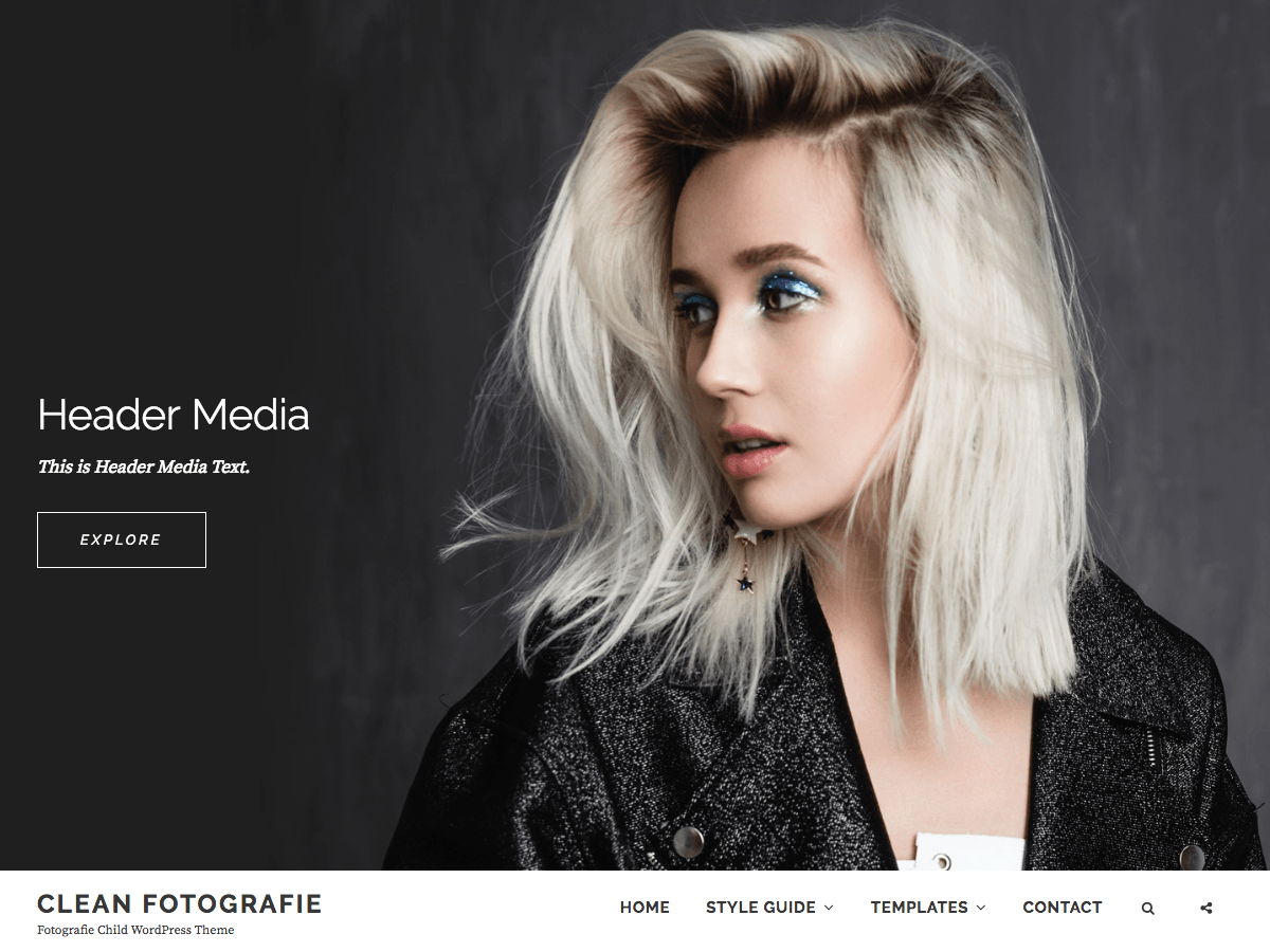 Clean Fotografie Download Free Wordpress Theme 1