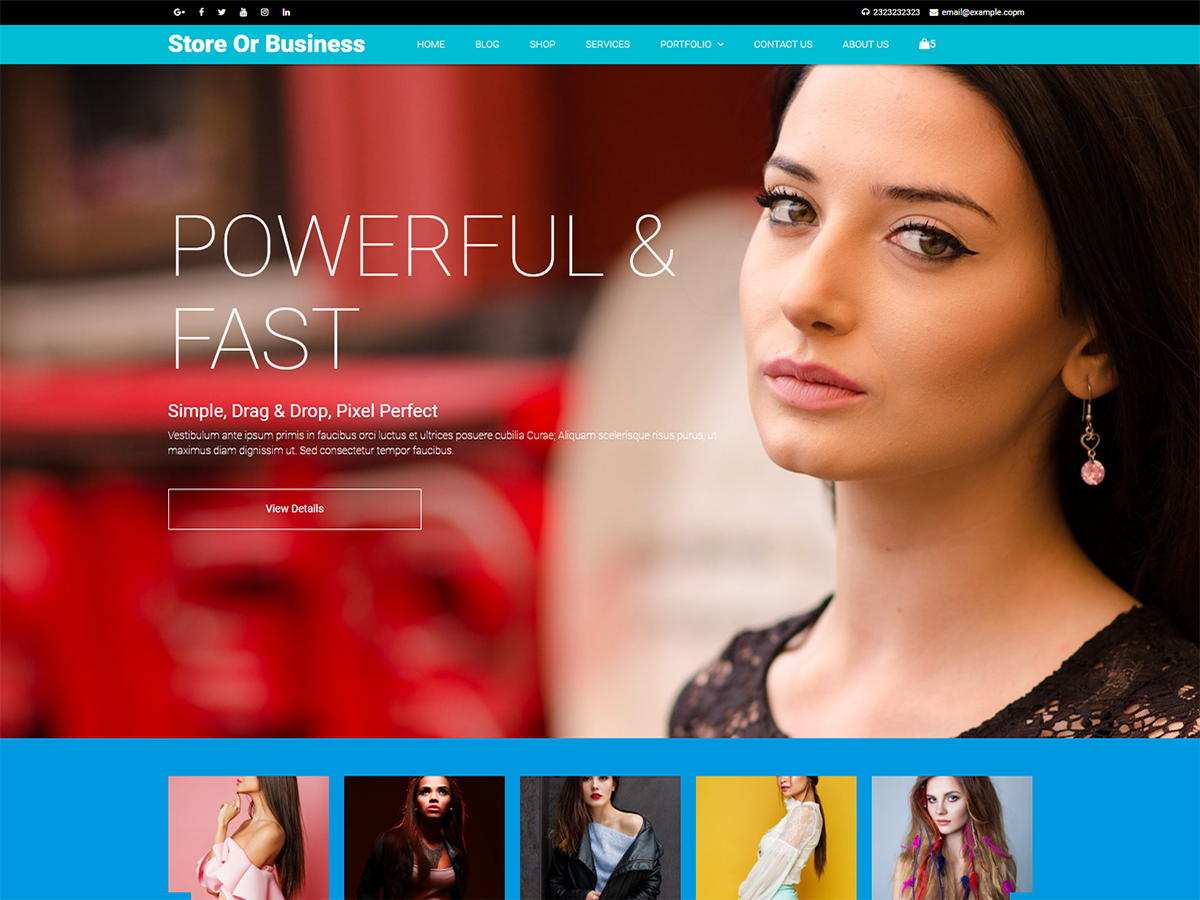 Blazing Download Free Wordpress Theme 4
