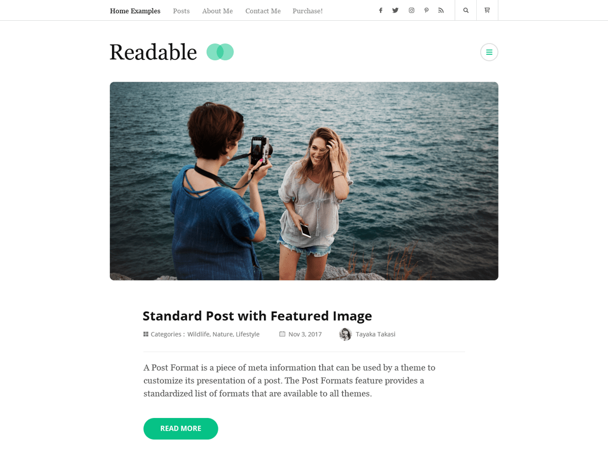 Rara Readable Download Free Wordpress Theme 3