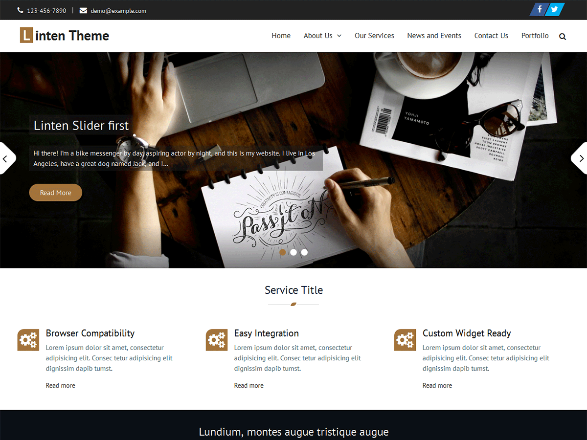 Linten Download Free Wordpress Theme 5