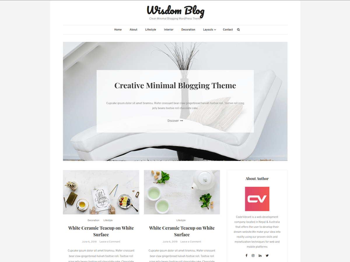 Wisdom Blog Download Free Wordpress Theme 4