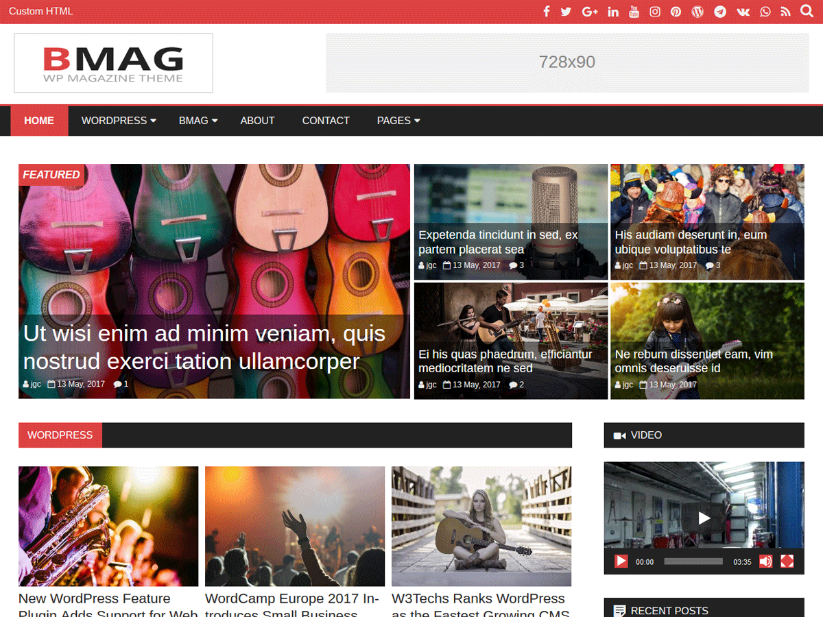 BMag Download Free Wordpress Theme 5