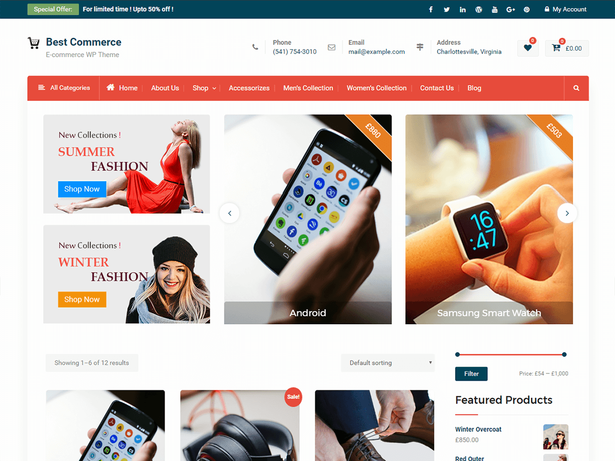 Best Commerce Download Free Wordpress Theme 3