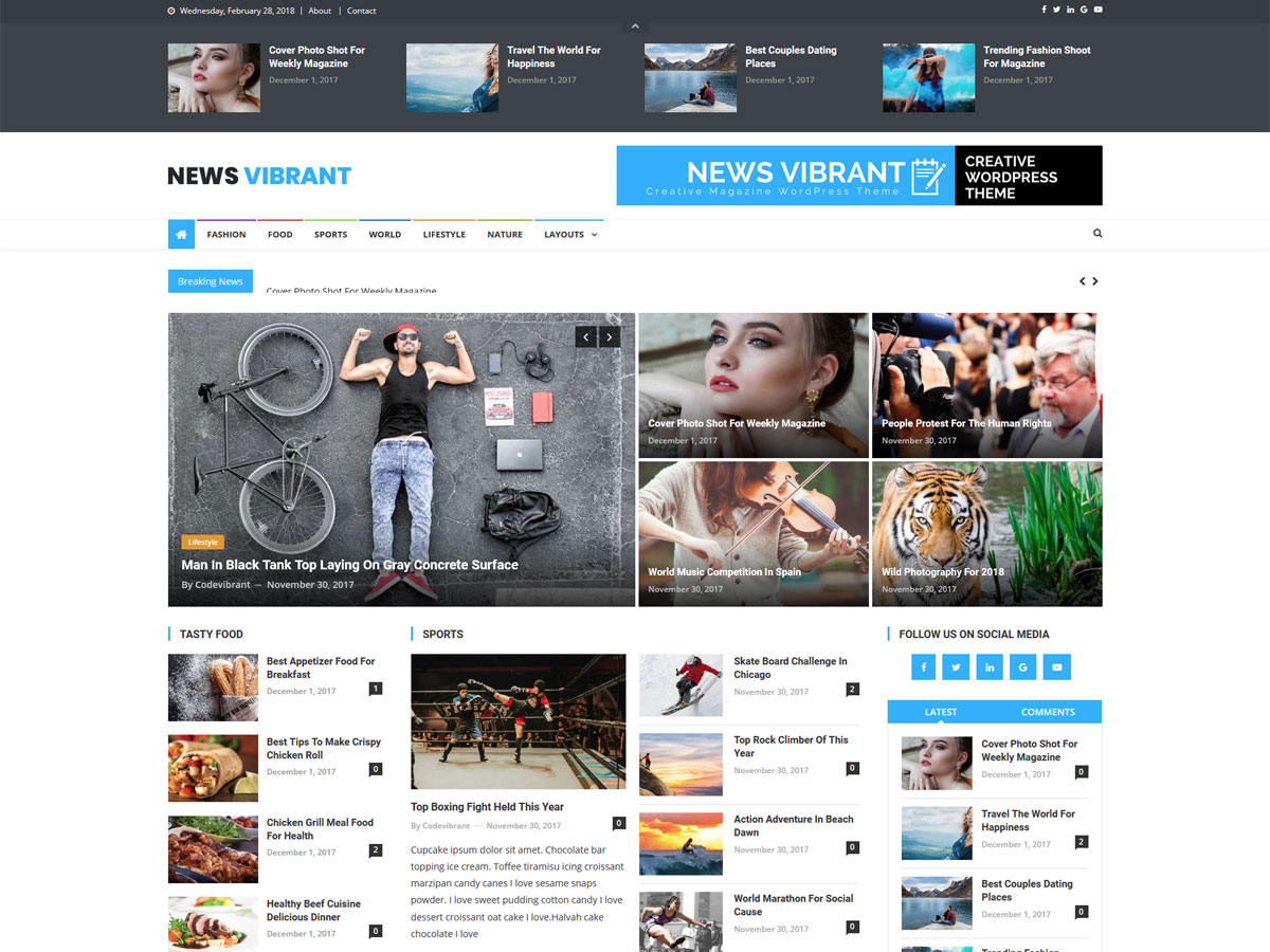 News Vibrant Download Free Wordpress Theme 2
