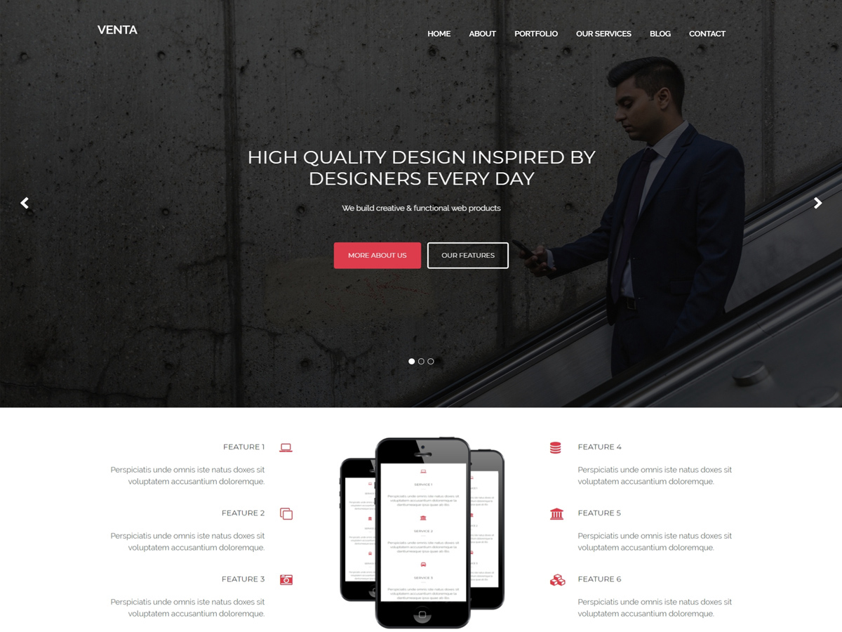 Venta Download Free Wordpress Theme 3