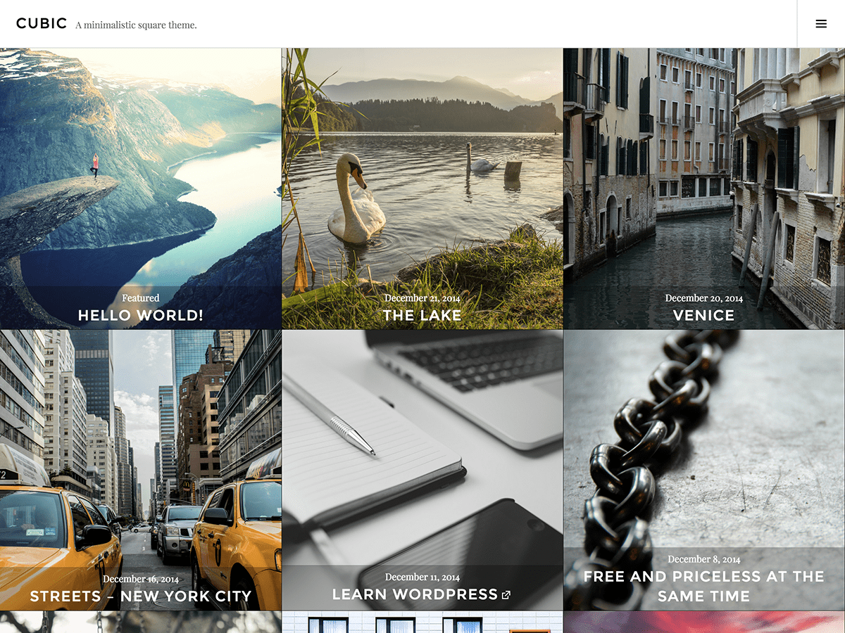 Cubic Download Free Wordpress Theme 2