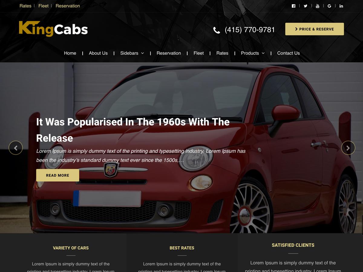 kingcabs Download Free Wordpress Theme 5