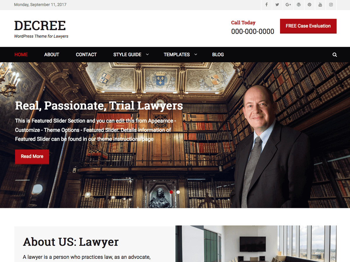 Decree Download Free Wordpress Theme 4