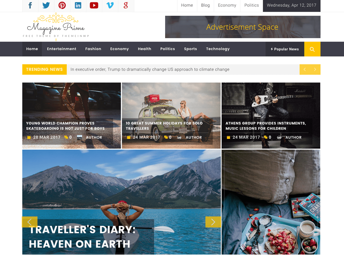 Magazine Prime Download Free Wordpress Theme 3