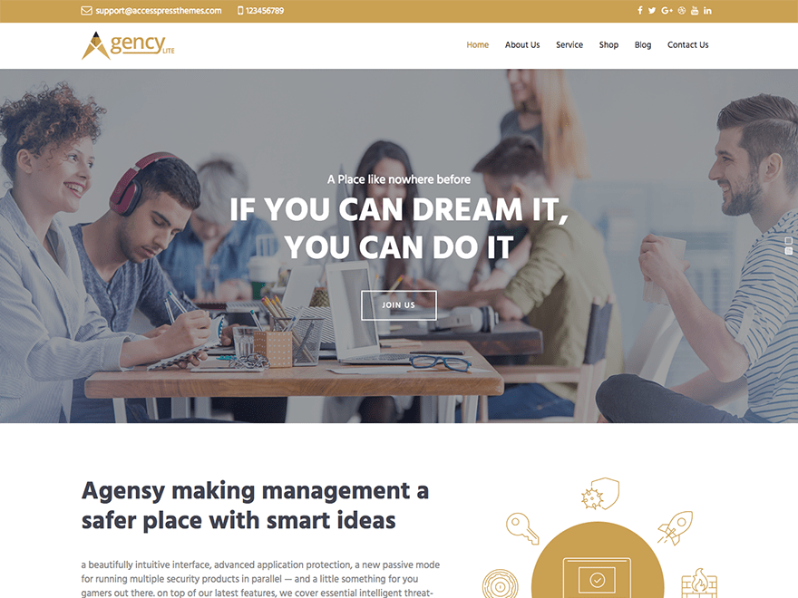 Agency Lite Download Free Wordpress Theme 3